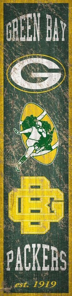 Green Bay Packers Heritage Banner Vertical 6x24