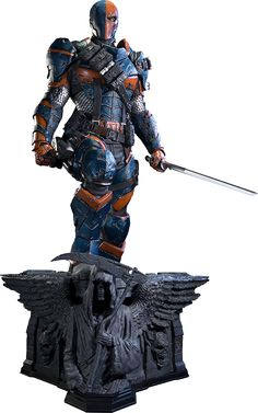 Deathstroke Statue   https://www.sideshowtoy.com/collectibles/dc-comics-deathstroke-prime-1-studio-902616/