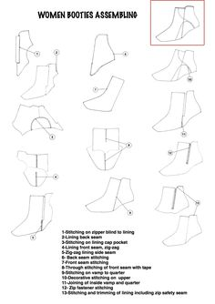 How to assemble lining and upper of women booties