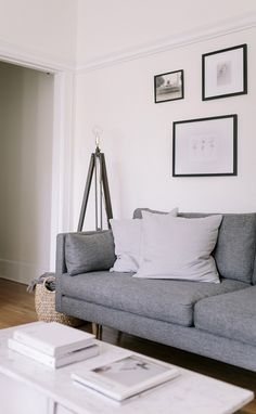 ANTON sofa. Gravel Gray.   Photo by Gillian Stevens.