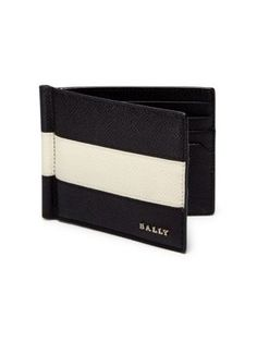 BALLY Colorblock Calf Leather Card Case. #bally #bags #leather #lining #