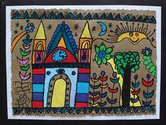 Check out student artwork posted to Artsonia from the Mexican Bark Painting project gallery at Alum Creek Elementary School. First Grade Art, 4th Grade Art, Fourth Grade, Middle School Art, Art School, School Stuff, Aztec Art, Classroom Crafts, Arts Ed