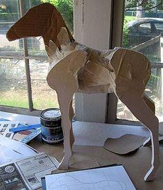 Trojan horse idea for piñata use box for body