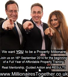 Millionaires Together Property Investment Training and Support Programme starts 16th September 2014.  Proudly Presented by Phil Martin (The Property Encyclopedia)