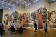 Installation view of Cindy Sherman's photo-mural Untitled, at the Museum of Modern Art This show was awesome. Conceptual Photography, Art Photography, Moma Nyc, Cindy Sherman, Photo Mural, Masquerade Ball, Museum Of Modern Art, Graphic Art, Exhibit