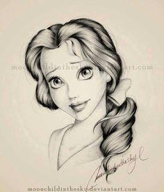 Disney sketches belle drawing, drawings of belle, disney drawings sketches, Disney Pencil Drawings, Disney Sketches, Cool Sketches, Cartoon Drawings, Drawing Sketches, Art Drawings, Drawing Disney, Sketch Art, Sketching
