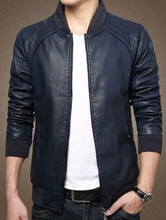 $26.52 Black leather jacket.