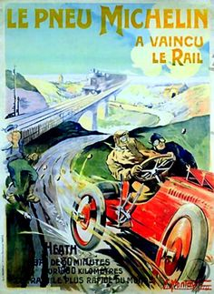 Le Pneu Michelin vintage poster
