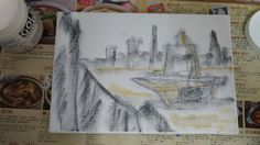 Sketch: U.S. Aircraft Carrier come to visit Taiwan (1)