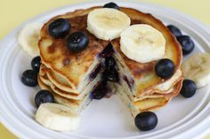 Blueberry Banana Pancake, I eat them every other day, the best thing ever! Like to put youghurt on top
