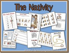 Nativity Activity sheets - for Fam Christmas Party