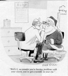 Optometry Comics and Jokes 2 Christmas Jokes, Christmas Cartoons, Christmas Time, Christmas Ideas, Merry Christmas, Optometry Humor, Optometry Office, Office Art, Eye Jokes