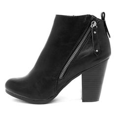 1add18aa7f021 Cordelia Black High Heel Ankle Booties ( 35) ❤ liked on Polyvore featuring  shoes