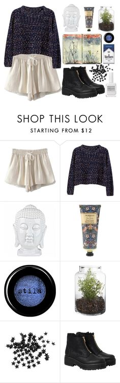 """""""Untitled #68"""" by roxeyturner ❤ liked on Polyvore featuring Chicnova Fashion, William Morris, Stila, Moleskine, INC International Concepts, Monki and Obsessive Compulsive Cosmetics"""