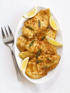 Lemon-Sage Chicken Cutlets Recipe from Food Network
