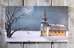 """Dimensions: 9""""W x 16""""L Stretched canvas Flickering Lights AA Batteries On / Off switch The LIGHTED CANDLE LIGHT SERVICE CANVAS is a perfect picture of peace. On"""