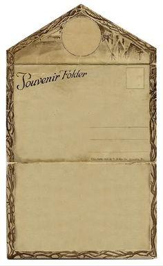 Free Vintage Clip Art Souvenir Folder
