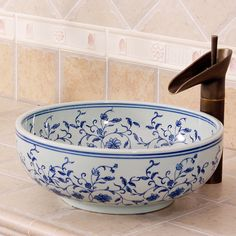 Cheap basin furniture, Buy Quality basin cap directly from China basin vanity Suppliers: China Painting blue rose Ceramic Painting Art Lavabo Bathroom Blue Vessel Sinks hand painted wash basins
