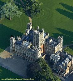 Highclere Castle,  Hampshire,  England,  also known as Downtown Abbey in the tv series