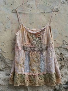 Weekend top romantic shabby chic bohemian summer by FleurBonheur, $138.00
