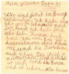 Edda Göring's letter to her father Hermann Göring while he was in Nuremberg Prison.