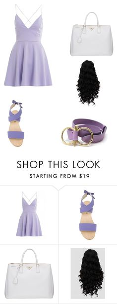 """Purple Paisly"" by mari-conant ❤ liked on Polyvore featuring AX Paris, Humanoid, Prada and Salvatore Ferragamo"