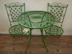 Green Wrought Iron Patio Furniture