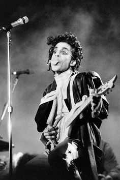 This black and white photo taken on June 1987 shows musician Prince performing on stage during his concert at the Bercy venue in Paris. Pop icon Prince -- whose pioneering brand of danceable funk. Get premium, high resolution news photos at Getty Images Archive Music, We Heart It, Prince Concert, Sign O' The Times, Pictures Of Prince, Roger Nelson, Prince Rogers Nelson, Purple Rain, Black And White Pictures