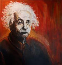 Albert Einstein - acryl 2019 Albert Einstein, My Arts, Painting, Stones, Painting Art, Paintings, Painted Canvas, Drawings