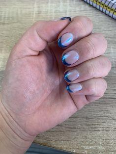 Gel on natural nails Natural Gel Nails, Blue Tips, French Nails, French Tips, French Manicures