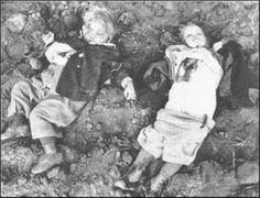 German children killed by Soviet soldiers in the Nemmersdorf massacre in East Prussia