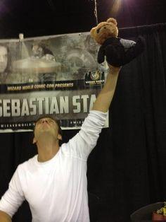Sebastian Stan signing autographs at Wizard World Comic Con 2014 (Philidelphia)