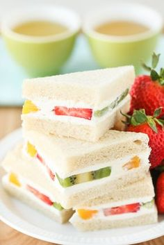 When people think of tea sandwiches, savories often come to mind. But have you ever had a sweet tea sandwich? Among sweet tea sandwiches, Fruit Sandwiches, otherwise known as Fruit Sando, are my favorite. Fruit Sando are a Japanese specialty, known for having pieces of soft fruit studded among a filling ofcloud-like, lightly sweetened whipped cream. These are reminiscent of those fluffy, fruited, Asian style bakery cakes, but fantastically easier to make. Everything starts with a soft…