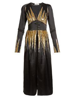 Suzanne sequin-embellished satin dress | Attico | MATCHESFASHION.COM UK