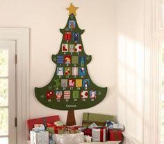 Pottery Barn Knock Off Tree Advent Calendar