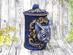 Cat Bast Apothecary Jar Potion Bottle / Wiccan Altar Clay Apothecary Bottle Gothic Home Decor Witchy Decor Goth Witch Pagan Gifts Pet Urn Apothecary Decor, Apothecary Bottles, Wiccan Decor, Wiccan Altar, Witch Jewelry, Pagan Jewelry, Moon Witch, Witchcraft Supplies, Pet Urns