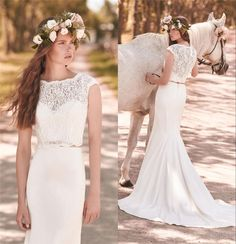 dress mikaella bridal 2053 two pieces wedding dresses mermaid wedding dress vintage lace wedding dresses beach boho wedding dresses 2016 bridal gowns Plus Size Wedding Dresses chapel train wedding dresses greek style bridal gowns in_marry