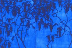 Isabel Bigelow.  Vines, Evening (diptych), oil on panel,   48 x 72 inches, Sears-Peyton Gallery