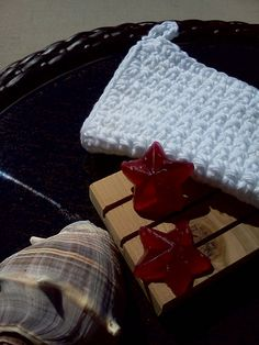 Gift SetWhite Facial Cloth Cedar Spa Soap Dish and by grammalea, $6.00