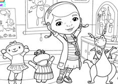 Thanks to Oral-B® for sponsoring this article. Introduce your kids to Doc McStuffins and her wonderful friends with this School of Medicine coloring page.