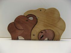 Wood elephant puzzle - $15.00, via Etsy.