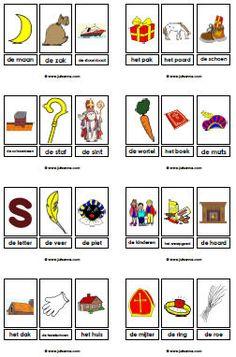 Woordkaarten met lidwoord van jufsanne.com