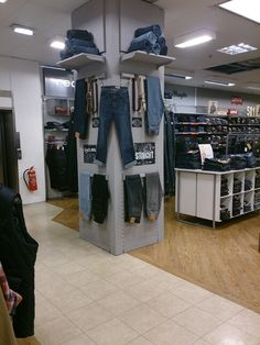 My own display on the denim department at Stockport Debenhams