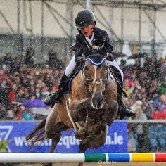The Children on Horses jump off at Dublin Horse Show took place in some the most atrocious conditions I've ever seen. - Nico Morgan photography