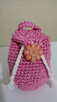 Mini mochila al crochet