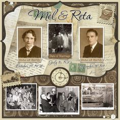 digital heritage layout by Karen Foster Designs..... about a couple's life together.