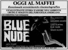 Blue Nude (1978) di Luigi Scattini, con Gerardo Amato, Susan McBain e Giacomo Rossi-Stuart. Italian release: February 10, 1978 #MoviePosters