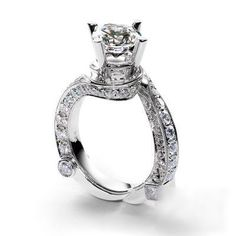 Baroque styled wedding ring # @celebstylewed