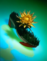 Bata Museum: image of Beth Levine grass and flower sandal