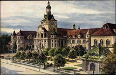 (Bavarian) National Museum (Postcard around 1900)